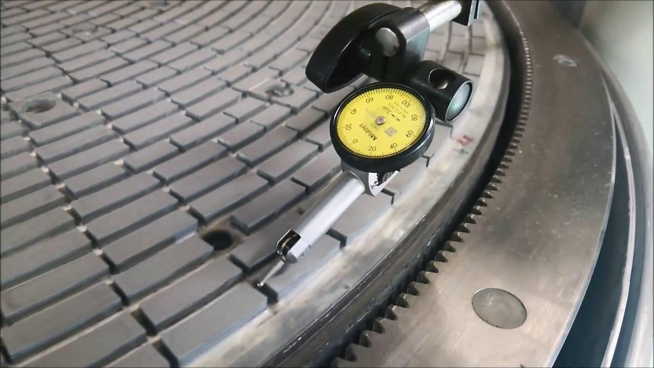 両面機定盤精度の測り方