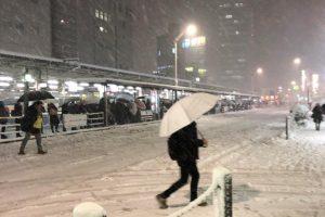大雪と展示会初日
